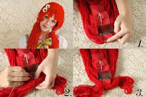 Как сделать парик кукле в домашних условиях
