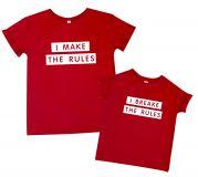"""Пара футболок для мамы и дочки """"RULES"""""""
