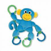 Плюшевая обезьянка с колечками