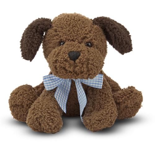 Милая мягкая игрушка шоколадный щенок