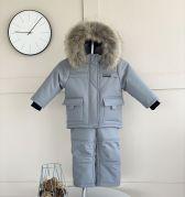 """Зимний полукомбинезон и куртка для мальчика """"Альпинист"""" (серый)"""