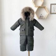 """Зимний комбинезон для малыша """"Аьпинист"""" (хаки)"""