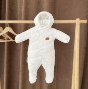 Вельветовый деми комбинезон для новорожденного Alivio (молочный)