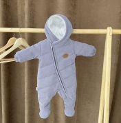 Вельветовый деми комбинезон для новорожденного Alivio (серый)