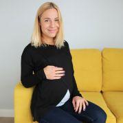 Топ с длинным рукавом для будущих мам с секретом кормления (черный)