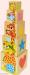 Детская деревянная пирамидка животные