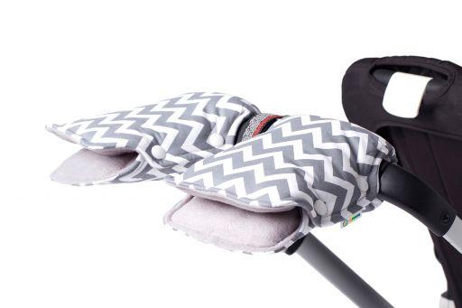Муфта для коляски Рассвет LC (серо-белый зиг заг)