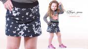"""Детская юбка для девочки из мягкого трикотажа """"Бабочки"""""""