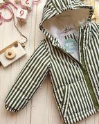 Полосатая детская демисезонная курточка (цвета хаки)