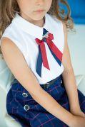 """Школьная блуза для девочек с коротким рукавом """"Капелька"""""""