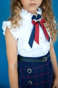 Школьная блуза с коротким рукавом «1 СЕНТЯБРЯ»