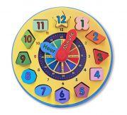Деревянные часы «сортировка»