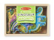Набор деревянных фигурок динозавров на магнитах