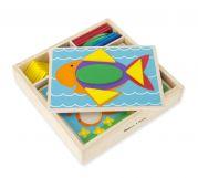 Деревянная мозаика для малышей (35 элементов)