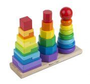 Деревянная пирамидка Геометрия