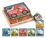 Набор деревянных кубиков 6 в 1 «Транспорт»