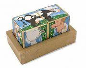 Деревянные кубики со звуком «Ферма»