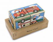 Деревянные кубики со звуком «Машинки»