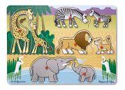 Деревянный пазл для малышей «Угадай африканское животное»