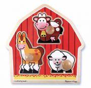 Деревянный пазл для малышей «Животные с фермы»