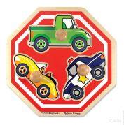 Деревянный пазл для малышей «Машинки»