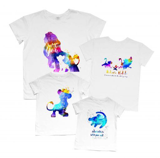 """Набор футболок Family look """"Львы акварель"""""""