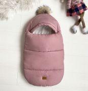 Конверт для новорожденных зимний, для детей от рождения и до 6-ти месяцев BABY (розовый)