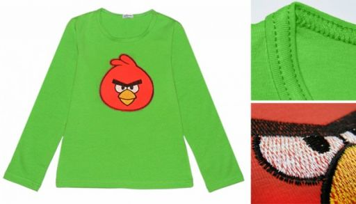 Реглан Angry Birds (зеленый)