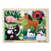 Деревянный пазл для малышей «Ферма»
