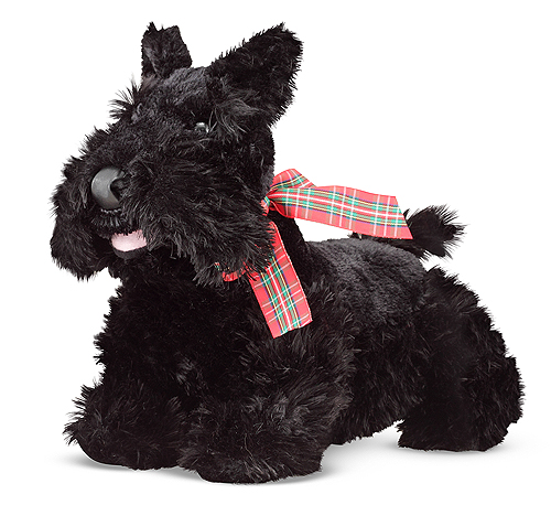Мягкая игрушка щенок породы Скотч-терьера