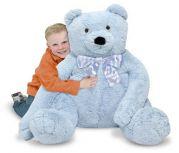 Большой плюшевый медведь на подарок (голубой)