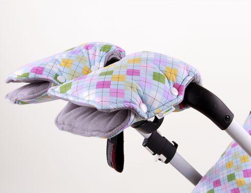 Муфта для рук на коляску и санки РОМБИКИ