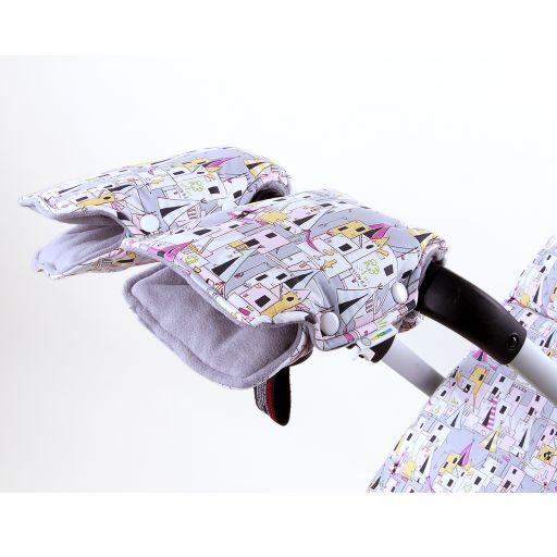 Муфта для рук на коляску и санки ЗАМОК ПРИНЦЕССЫ