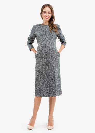 Ангоровое платье LANGORA для беременных и кормящих мам