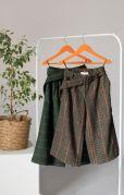 Школьные детские брюки кюлоты (гусиная лапка)