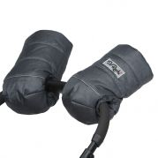 """Муфта для коляски на овчине в форме рукавичек """"Княгиня"""" (графит)"""