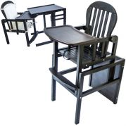 Деревянный стул трансформер для кормления малышей (венге)