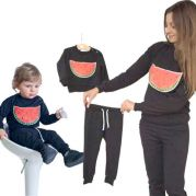 Парные костюмы для мамы и ребенка Арбуз
