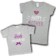 """Family Look мама + дочь """"Happy mother lovely doughter"""""""