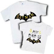 """Мужские футболки папа+сын """"Dad is batman"""""""