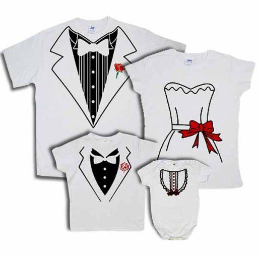 """Набор футболок для всей семьи + боди """"Пиджак"""""""