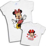 "Комплект футболок мама+дочка ""Минни маус"""