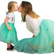 Набор пышных юбок для мамы и ее дочки (мята)
