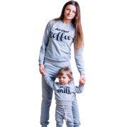Спортивный костюм для мамы и ребенка CoffeeMilk (серый)