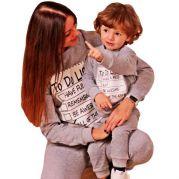 Удобные спортивные костюмы для мамы и ребенка To do list (серый)