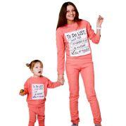 Трикотажные костюмы Family look To do list (коралловый)