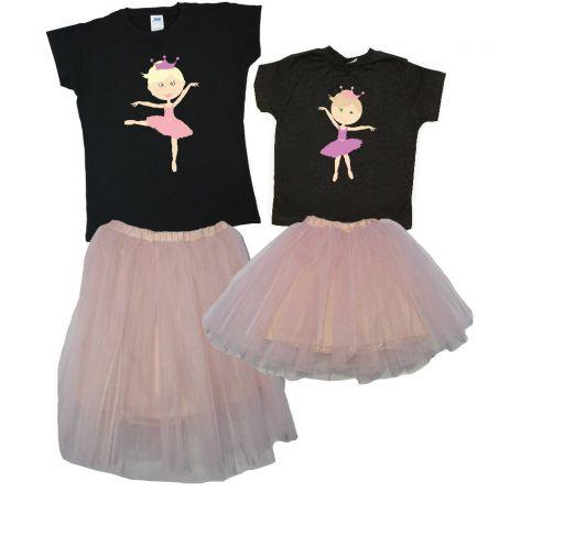 """Костюмы для мамы и ее дочки """"Балерины"""" (юбки + футболки)"""