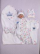"""Набор для новорожденного из 5 предметов """"Мой Принц"""""""