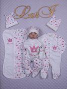 """Комплект первой одежды для новорожденной """"Принцесса"""" (7 единиц)"""