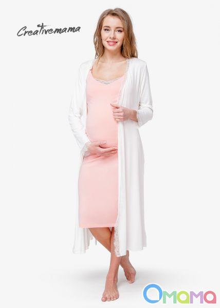 1168c751fe920 Ночная сорочка и халат для беременных с секретом кормления PRIMA
